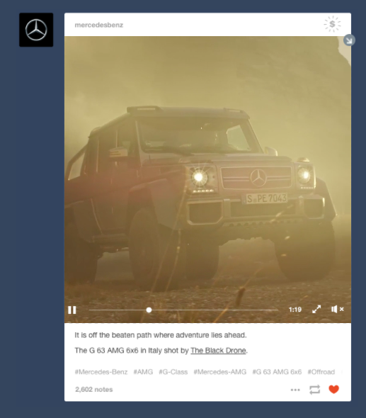 Tumblr Video Sponsored Posts