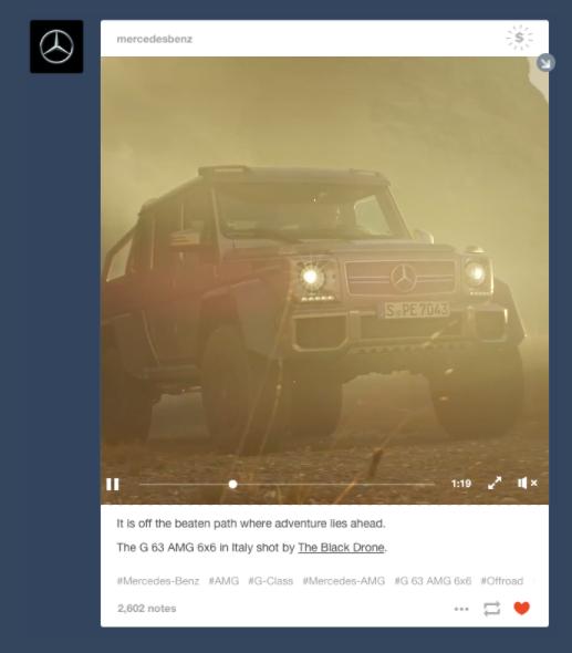Tumblr Video Sponsored Posts