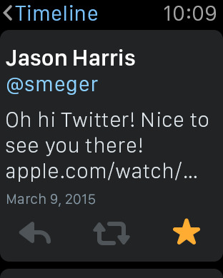 Twitter applewatch