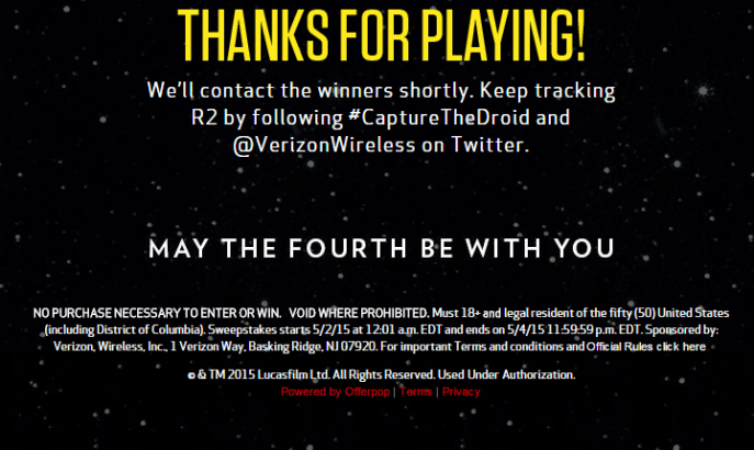 Verizcontestmailer